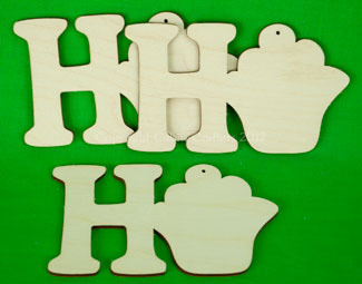 Ho Ho Ho ornaments -  set 3 pezzi