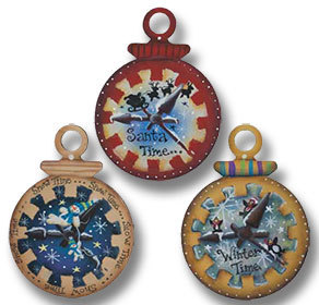 Pocket Watch Ornaments - 3 sagome in legno