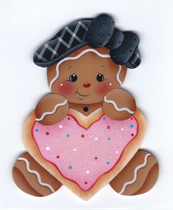 Ginger Heart Cookie - sagoma in legno