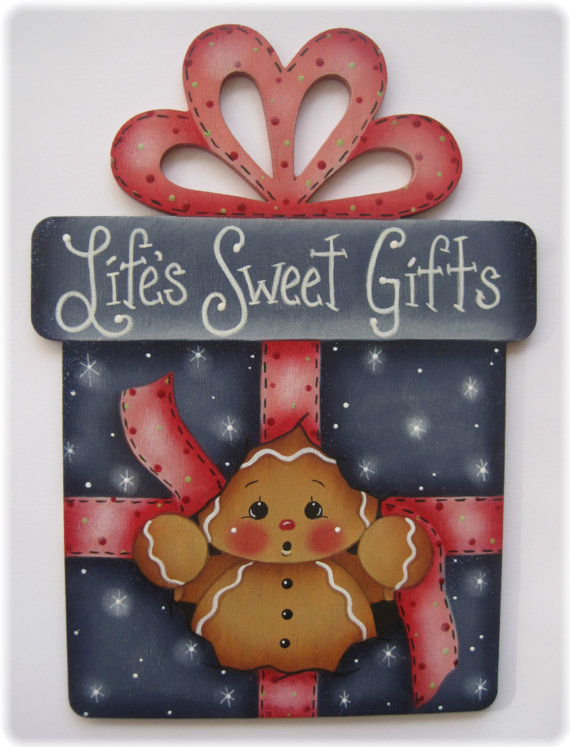 Life's Sweet Gift - sagoma in legno