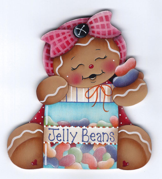 Gingerbread and Jelly Beans - sagoma in legno