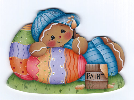 Painting Easter Eggs - sagoma in legno