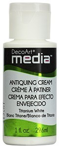 Titanium White Antiquing Cream - Media DecoArt