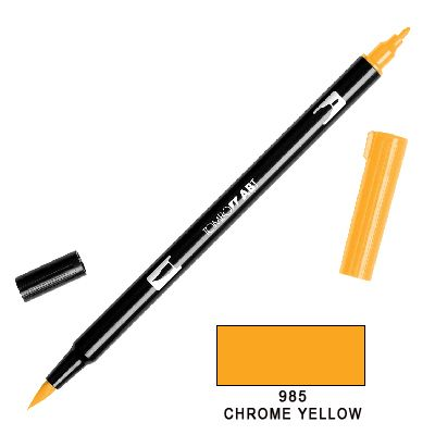 Tombow Marker a 2 punte - Chrome Yellow 985