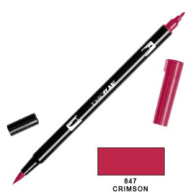 Tombow Marker a 2 punte - Crimson 847
