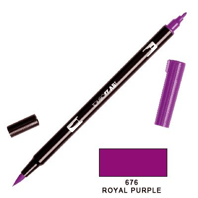 Tombow Marker a 2 punte - Royal Purple 676