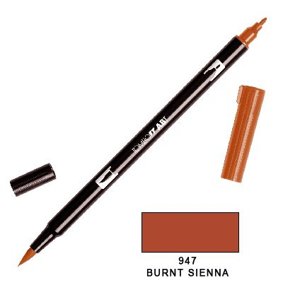 Tombow Marker a 2 punte - Burnt Sienna 947