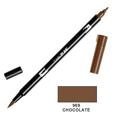 Tombow Marker a 2 punte - Chocolate 969