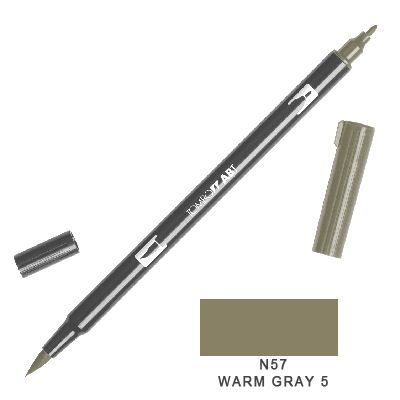 Tombow Marker a 2 punte - Warm Gray N 57