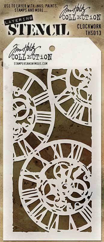 Stencil Clockwork - Tim Holtz