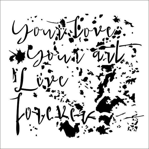"Stencil ""Your art"" -13arts"