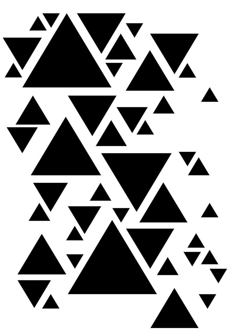 "Stencil ""Triangles"" -13arts"