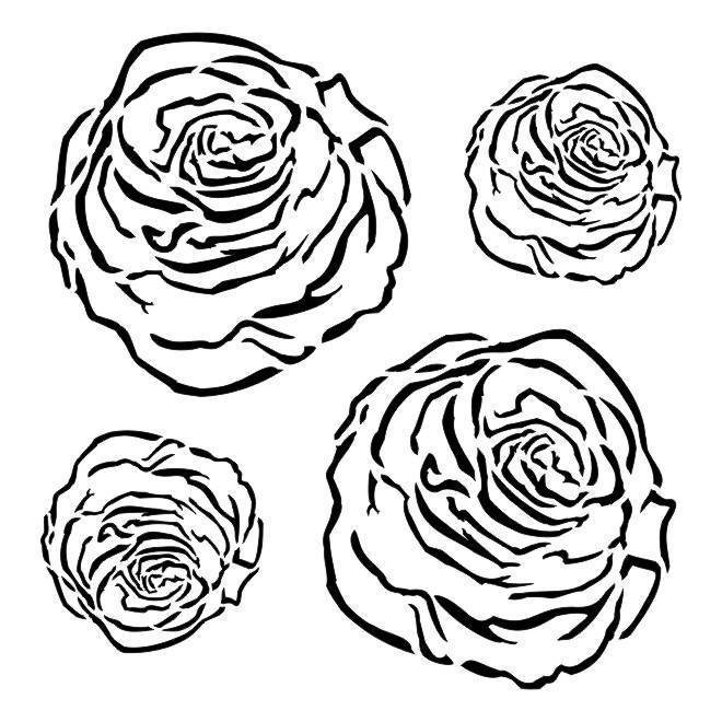 "Stencil ""Roses"""