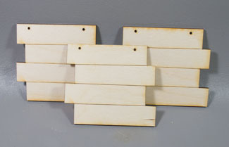 Grooved Stacked ornaments - 3 sagome in legno