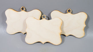 Fancy Horizontal ornaments - 3 sagome in legno