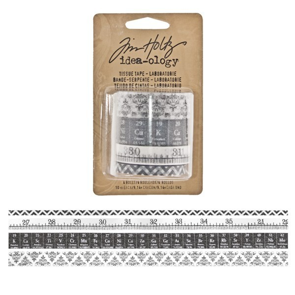 Set 4 Tissue Tape Tim Holtz - Laboratorie