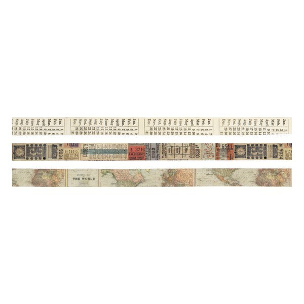 Set 3 Design Tape Tim Holtz - Passport
