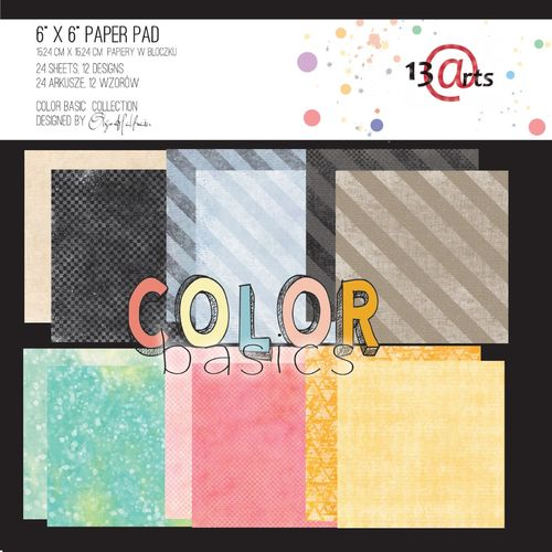 "Paper pad 6x6 - ""COLOR BASICS"""