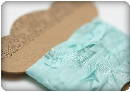 Nastro ScrapBerry's Shabby Ribbon - Tiffany