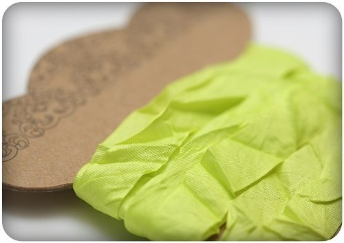 Nastro ScrapBerry's Shabby Ribbon - Lime