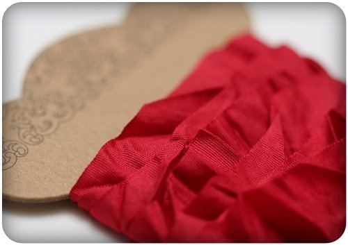 Nastro ScrapBerry's Shabby Ribbon - Red