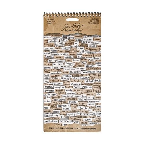 Tim Holtz - Ideaology - Seasonal Chitchat Sticker Book