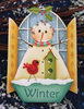 Snowman Window - sagoma in legno