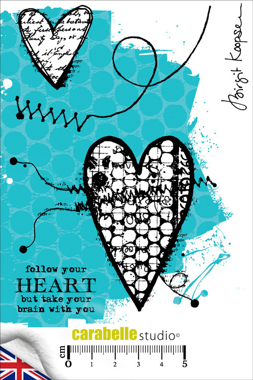 Cling Stamp A6 : Follow your heart by Birgit Koopsen - Carabelle Studio