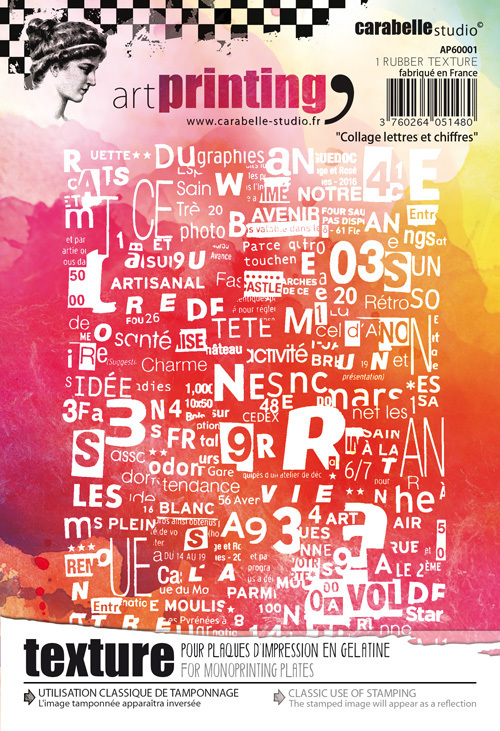 Art Printing A6 : Collage lettres et chiffres - Carabelle Studio