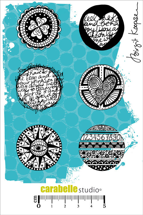 Cling Stamp A6 : Round and Round by Birgit Koopsen - Carabelle Studio