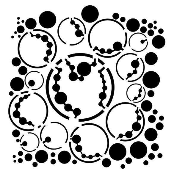 "Stencil ""Bubbles"" -13arts"