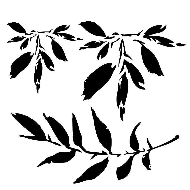 "Stencil ""Leaves"" - 13arts"