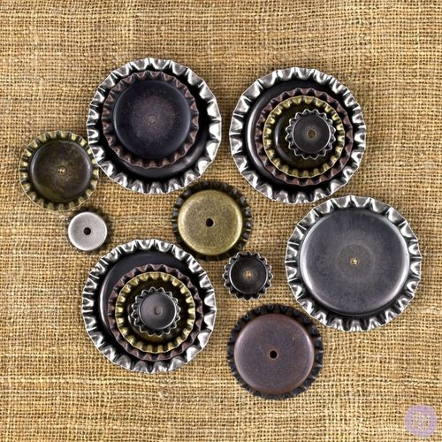 Mechanicals Metal Vintage Trinkets - Bottle Caps - Prima Marketing
