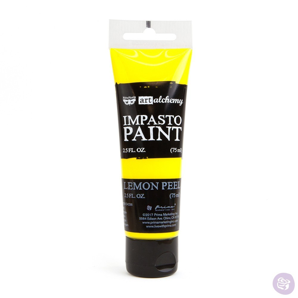 Lemon Peel - Impasto Paint Prima Marketing