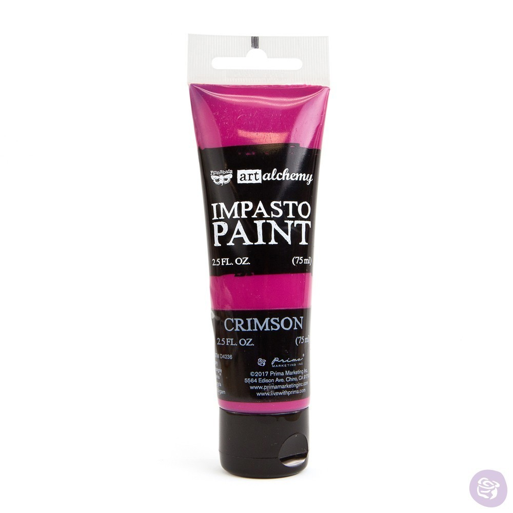 Crimson - Impasto Paint Prima Marketing