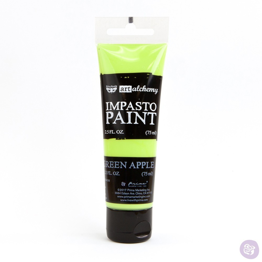 Green Apple - Impasto Paint Prima Marketing