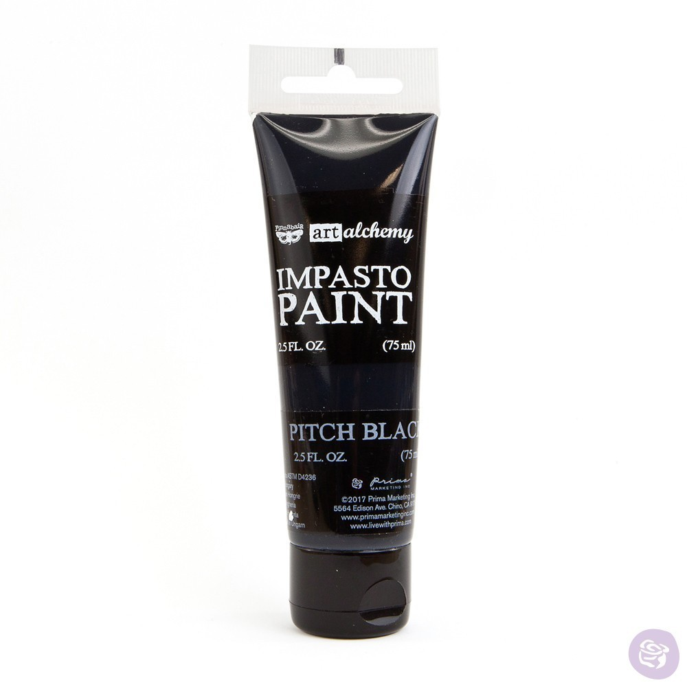 Pitch Black - Impasto Paint Prima Marketing