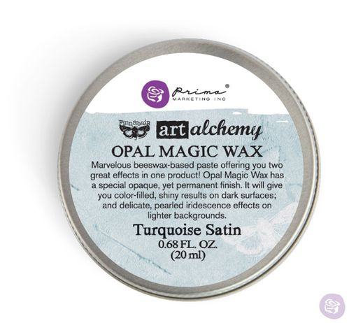 Turquoise Satin - Opal Magic Wax Prima Marketing