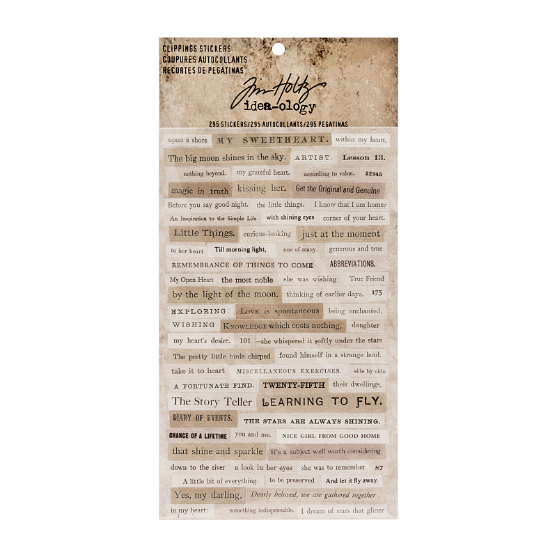 Tim Holtz - Ideaology - Clippings Stickers