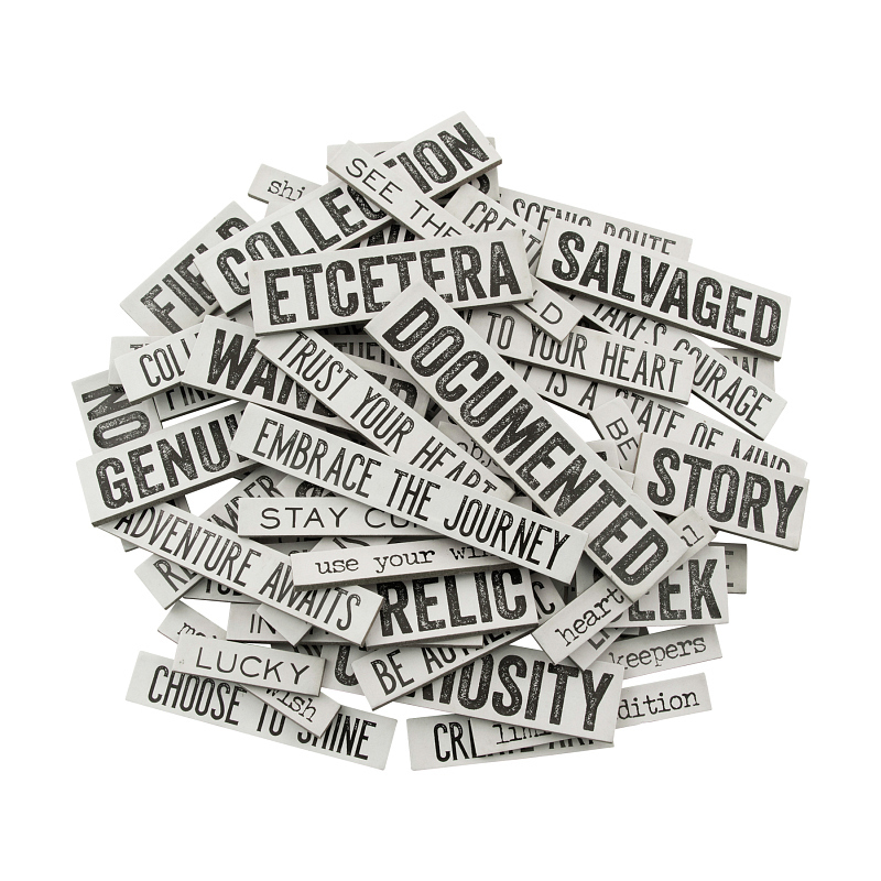 Tim Holtz - Ideaology - Quote Chips