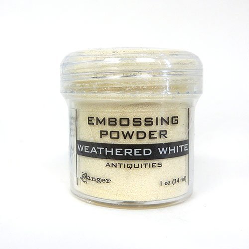 Weathered white - Ranger embossing powder
