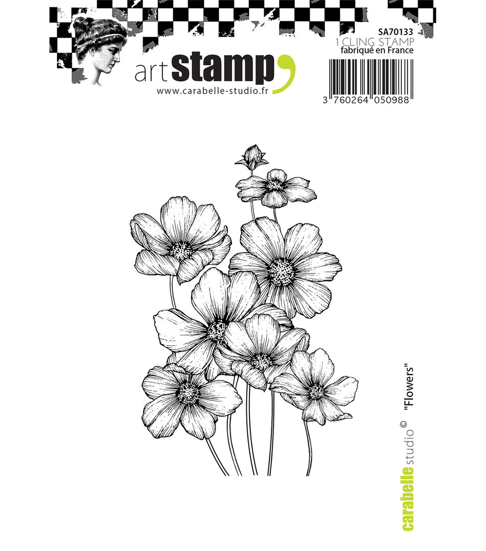 Cling Stamp: Flowers - Carabelle Studio