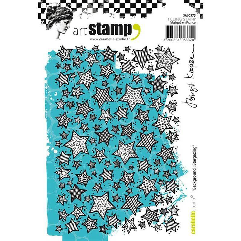 Cling Stamp A6: Background: Stargazing by B. Koopsen - Carabelle Studio