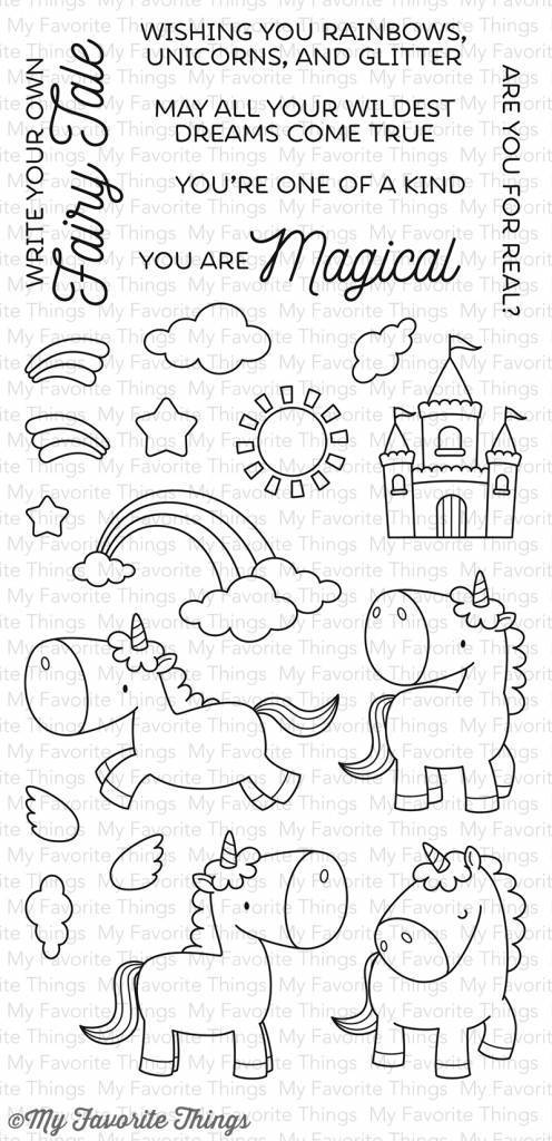 Timbro clear Magical unicorns  - My Favourite Things