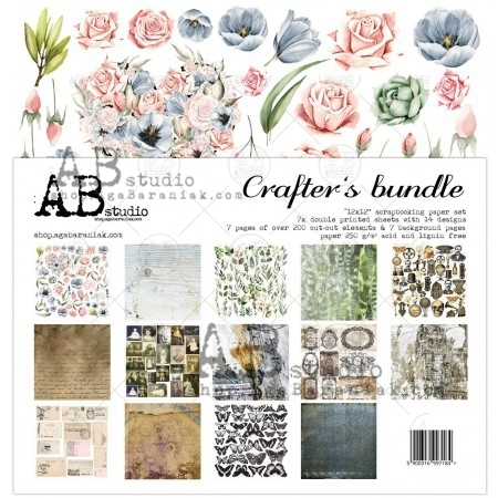 Set di 7 Carte 30x30 ABstudio - Crafter's bundle