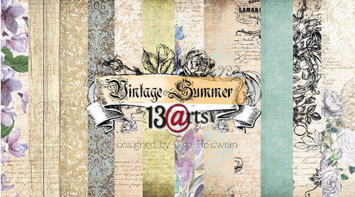 Set di 6 Carte 30x30 13Arts - Vintage summer
