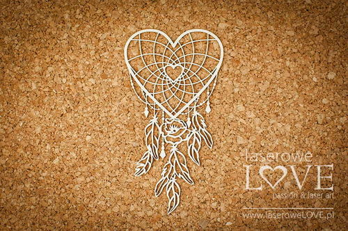 Chipboard - Dreamcatcher cuore