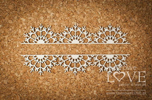 Chipboard - Bordo con fiocchi di neve