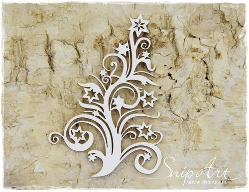 Chipboard - Decoro piccolo con stelle