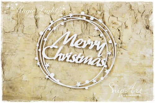 Chipboard - Merry Christmas tondo